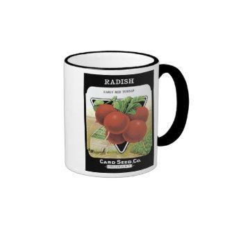 Radish Early Red Turnip Card Seed Co Ringer Mug