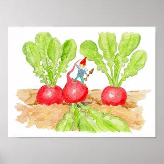 Radish Gnome art print