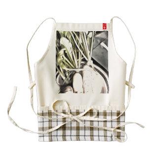 Radish grown in the home garden zazzle HEART apron