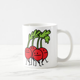 Radish Happy Bunch - Radishes being happy! Coffee Mug