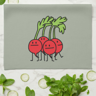 Radish Happy Bunch - Radishes being happy! Hand Towel