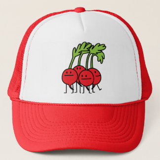 Radish Happy Bunch - Radishes being happy! Trucker Hat