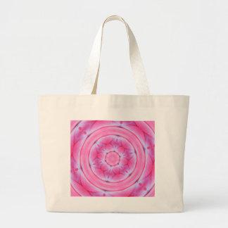 Radish Roses Kaleidoscope Design Jumbo Tote Bag