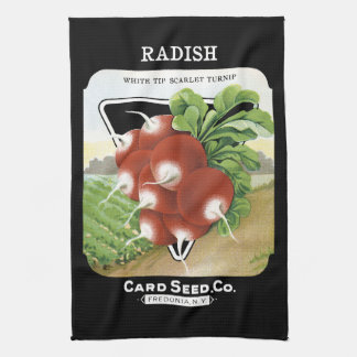 Radish Seed Packet Label Hand Towels