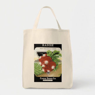 Radish Seed Packet Label Tote Bag