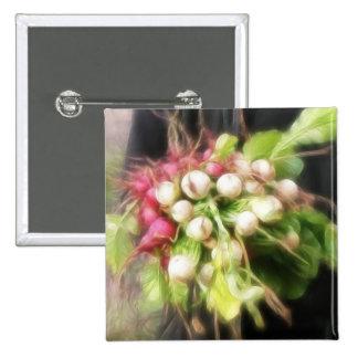 Radish Turnip Harvest Pinback Buttons
