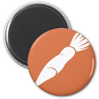 Radish Vegetable Icon 2 Inch Round Magnet