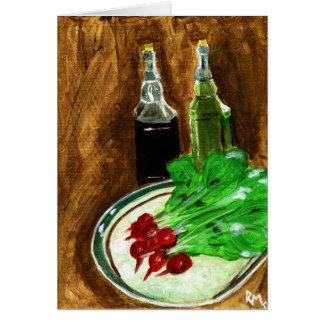 Radishes & Condiments Card