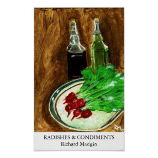 Radishes & Condiments Poster
