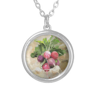 Radishes Silver Plated Necklace