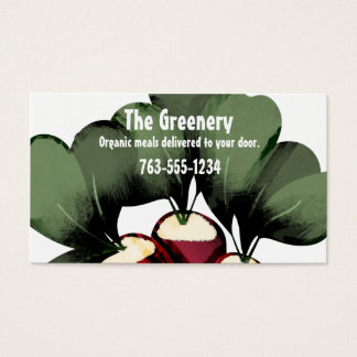 radishes vegetable chef catering business cards