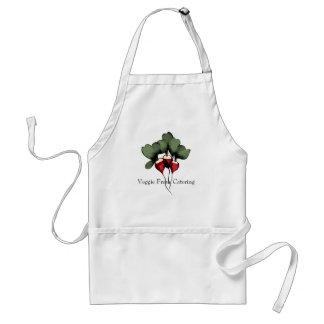 radishes vegetable cooking kitchen apron