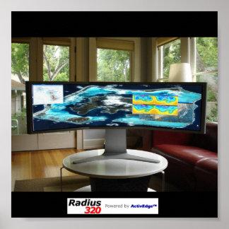 Radius320 Bora Bora Poster