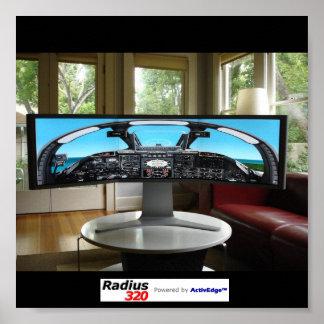 Radius320 Flight Simulation Poster