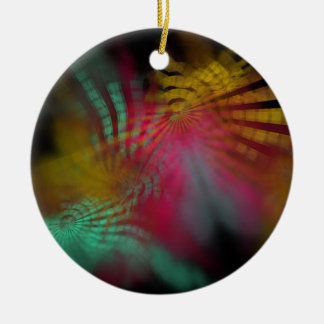 radius Double-Sided ceramic round christmas ornament