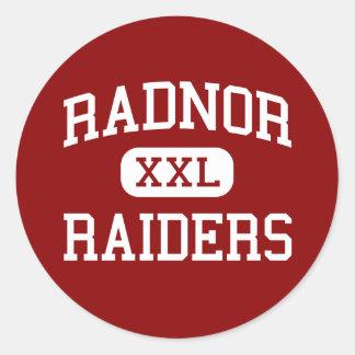Radnor - Raiders - High - Radnor Pennsylvania Round Stickers