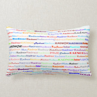 Radnor Text Design II Lumbar Pillow