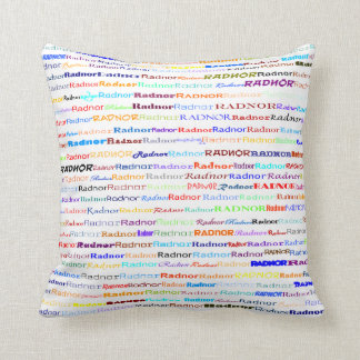 Radnor Text Design II Throw Pillow