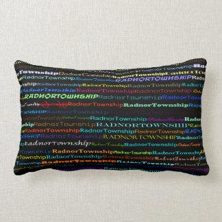 Radnor Township Text Design I Lumbar Pillow