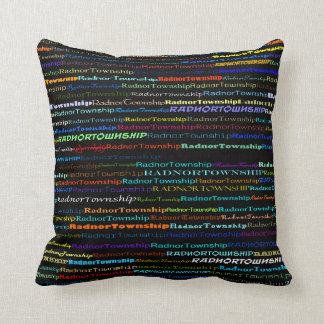 Radnor Township Text Design I Throw Pillow