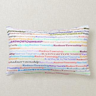 Radnor Township Text Design II Lumbar Pillow