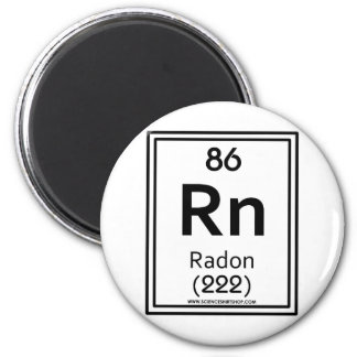 Radón 86 imán redondo 5 cm
