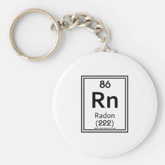 Radón 86 llavero redondo tipo pin