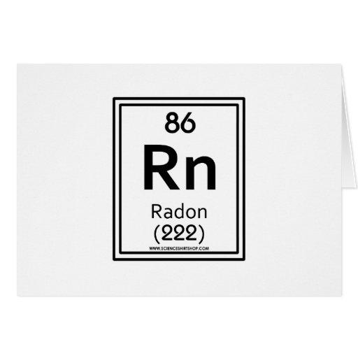 Radón 86 tarjeta de felicitación