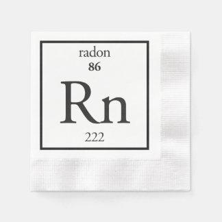 Radon Coined Cocktail Napkin