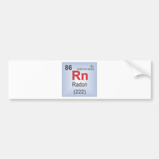 Radon Individual Element of the Periodic Table Bumper Stickers