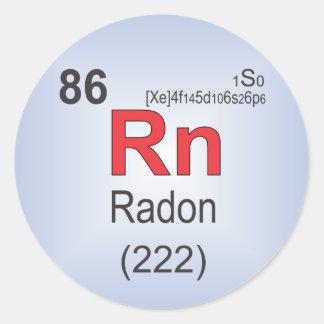 Radon Individual Element of the Periodic Table Classic Round Sticker