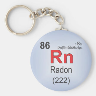 Radon Individual Element of the Periodic Table Keychain