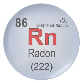 Radon Individual Element of the Periodic Table Melamine Plate