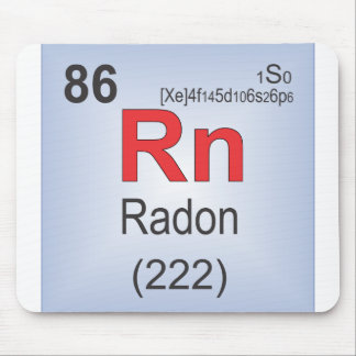 Radon Individual Element of the Periodic Table Mouse Pad