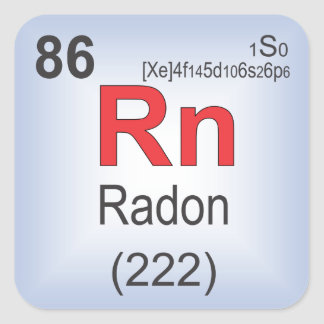Radon Individual Element of the Periodic Table Square Sticker