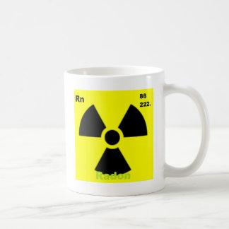 radón tazas de café