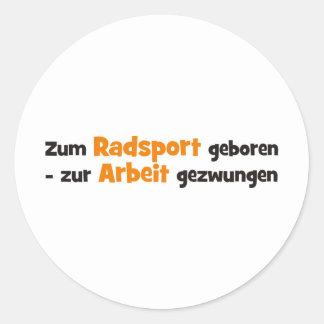 Radsport Classic Round Sticker
