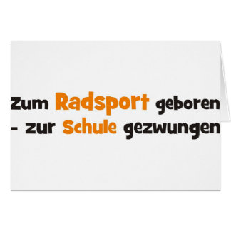 Radsport Tarjeta De Felicitación