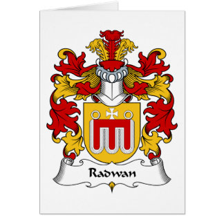 Radwan Family Crest Greeting Card