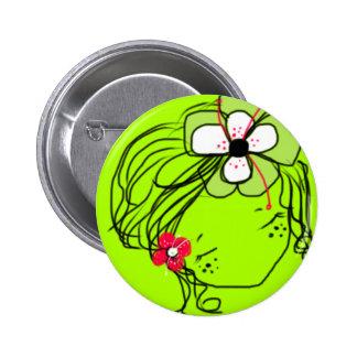 Rae- Mimi Yoya girl 2 Inch Round Button