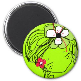 Rae- Mimi Yoya girl 2 Inch Round Magnet
