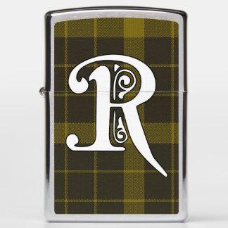 Raeburn Clan Tartan Monogram Zippo Lighter
