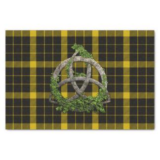 Raeburn Tartan And Celtic Trinity Knot Tissue Paper