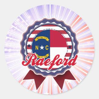 Raeford, NC Pegatina Redonda