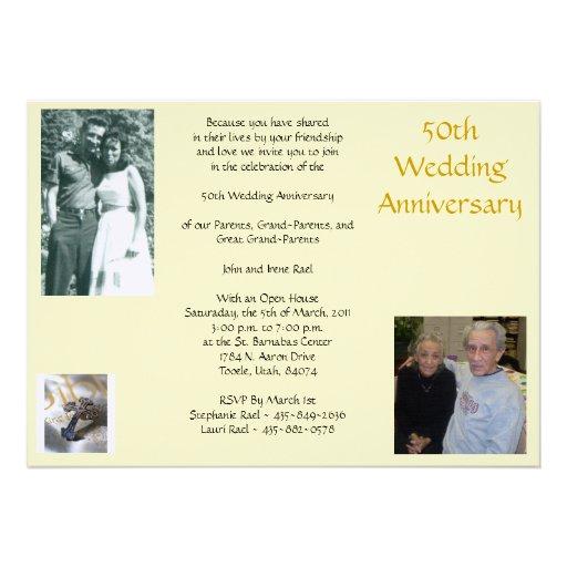 Rael 50th Anniversary,... Personalized Invite
