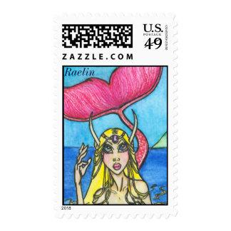 Raelin : Fantasy Mermaid Stamps by Faerydae