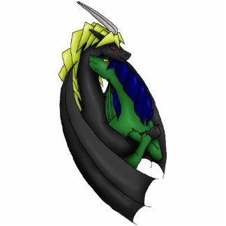 Raenur y Ferim: Amor del dragón Fotoescultura Vertical