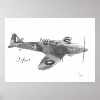 RAF Defiant print