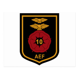 RAF Patch 10 Air Experience Flight AEF Crest Patch Postcard
