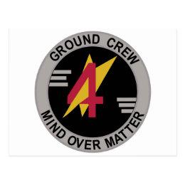 Raf Patch 4 Squadron Ground Crew Harrier Gr Postcard